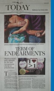 Early Article on Polyamory, Baltimore Sun 2005